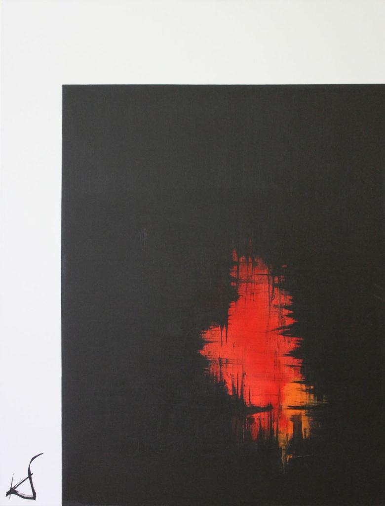 Höhlenfeuer, 90x116